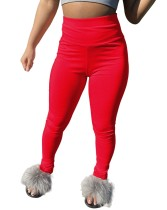 Einfarbige sexy Tight Pants mit hoher Taille