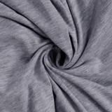 Abito a camicia regolare semplice con scollo tinta unita estivo