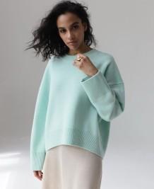 Herbst Winter einfarbiger Pullover loser Pullover