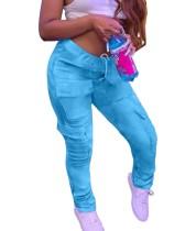 Pantalon de poche uni uni décontracté Africa
