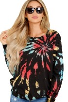 Regular-fit overhemd met lange mouwen en tie-dye herfstkleur