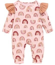 Baby Girl Rainbow Print Herbst Strampler Overall