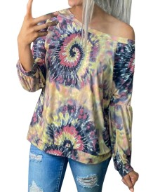 Autumn Tie Dye Langarm Regular Shirt