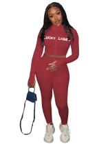 Camicia e legging con stampa Autumn Sports Fitness