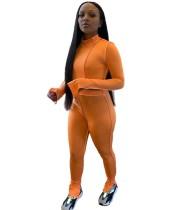 Herbst Sexy zweiteilige Bodycon Crop Top und Hosen Set