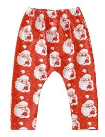 Leggings con stampa natalizia per bambina
