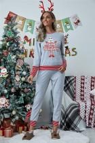Set pigiama da donna con top e pantaloni natalizi