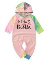 Baby Girl Autumn Tie Dye Hoody Strampler Overall