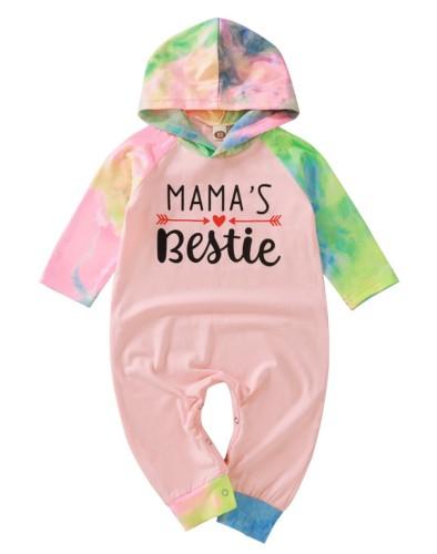 Baby Girl Autumn Tie Dye Hoody Rompers Jumpsuit