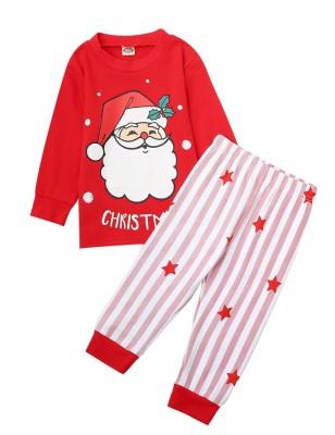 Set pigiama con pantaloni natalizi 2 pezzi per bambino