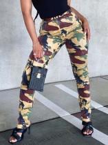 Street Fashion Pailletten Camou Hose