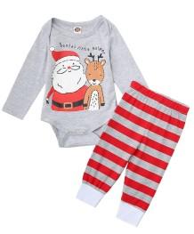 Conjunto de pantalones navideños de 2 piezas para bebé niño