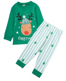 Kids Boy 2pc Christmas Pants Pijama Set