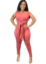 Autumn Solid Color Loose Shirt und Tight Legging Set