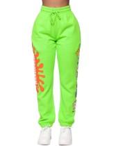 Pantalon de survêtement à cordon de serrage imprimé automne