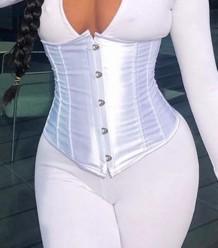 Sexy einfarbige Fitness unter Büste Taille Korsett