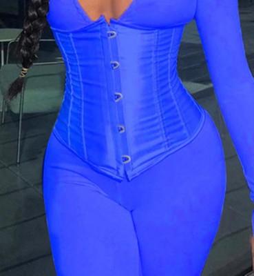 Corset sexy de couleur unie sous la taille du buste