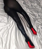 Sexy schwarze Perlen Brief enge Leggings