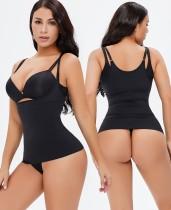 Sexy zwarte bandjes vest shapewear