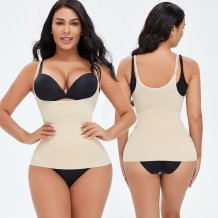 Sexy Nude Straps Vest Shapewear