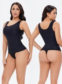 Sexy schwarze Weste Shapewear