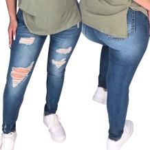 Stilvolle enge Jeans mit hoher Taille