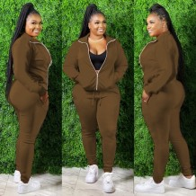 Plus Size Autumn Blank Hoody Tracksuit