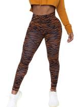Imprimir leggings ajustados sexy de cintura alta