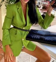 Herbst einfarbig Western Fashion Long Blazer