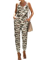 Sommer Casual Camou Print Halfter Overall