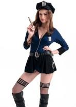 Set di gonna da donna della polizia del costume cosplay