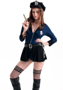 Set di gonna da donna della polizia del costume cosplay