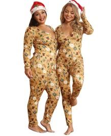 Pyjama-Overall in Weihnachtsgröße in Übergröße