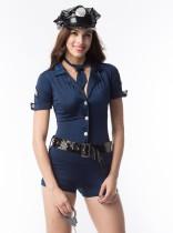 Set di pagliaccetti delle donne della polizia del costume cosplay