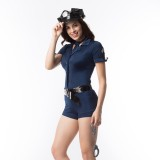 Cosplay Costume Police Femmes Barboteuses Ensemble