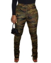 Camou Print Hose mit hoher Taille