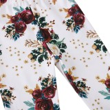Legging Floral Imprimé Automne Fille Pour Enfants