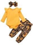 Conjunto de pantalones florales de otoño de 3 piezas para bebé niña