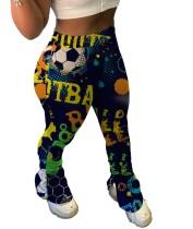 Pantalones apilados con abertura lateral de cintura alta coloridos con estampado de África