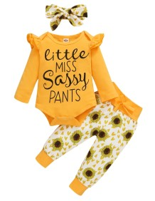 Baby Girl 3PC Autumn Floral Pants Set
