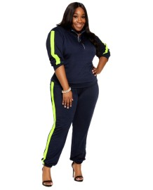 Plus Size Autumn Turtleneck Sweatsuit