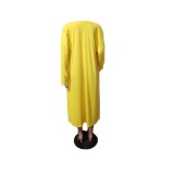 Autumn Solid Color Long Cardigans with Full Sleeves