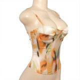 Zomer Tie Dye Sexy push-up riemvest