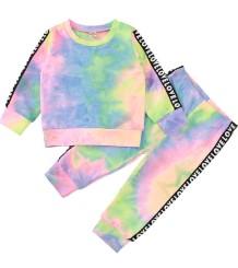 Kinder Mädchen Herbst Tie Dye Shirt und Hosen Set