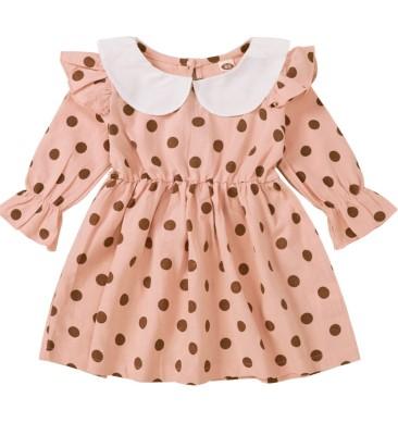 Kids Girl Autumn Polka Print Skater Dress