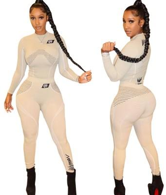 Ensemble chemise et pantalon à manches longues à imprimé Sports Fitness