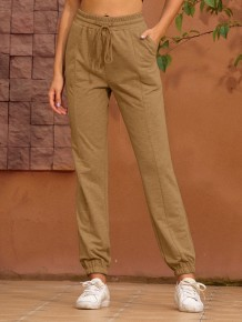 Summer Drawstrings Regular Pants