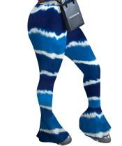 Pantalones coloridos de cintura alta sexy con parte inferior de campana