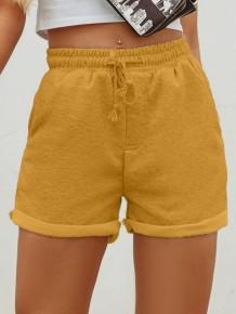 Shorts regulares de verão com cordão