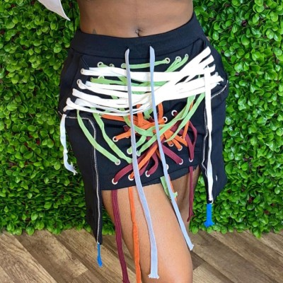 Minigonna con stringhe sexy da festa